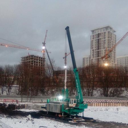 Вдавливание свай, Москва