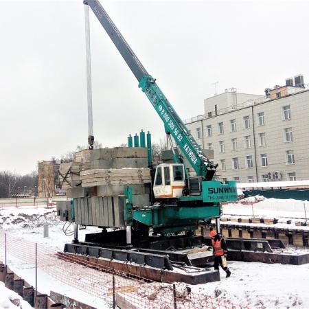 Вдавливание свай, Москва. BASIS