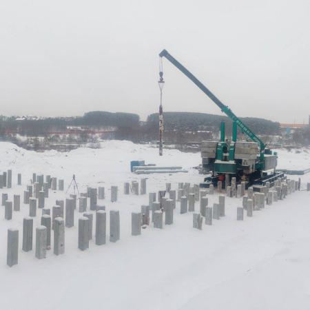 Вдавливание свай, Московская область. BASIS