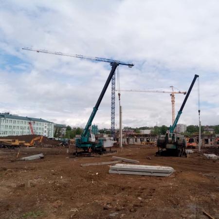 БАЗИС. Вдавливание свай, Казань